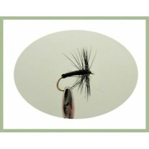 Lures,Size 10 hook Fishing Flies, Silver Winged Trout Fly 8 Goldhead Black