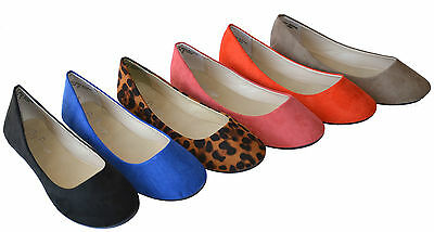Lady2 New Women Casual Ballet Flat Boat Slip-on Soft Sole Suede Shoes Siz 5.5~10