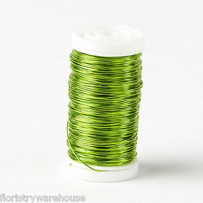 Metallic Wire reel floristry craft jewellery Lime Green