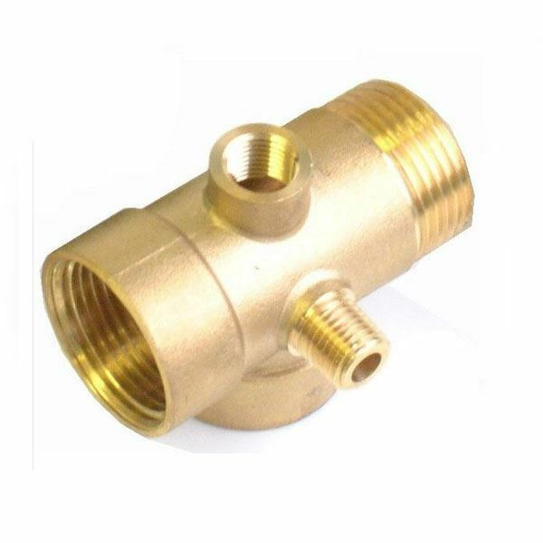 5-Way Brass Pump Fittings Connector Pressure Check Vessels Gauges 1