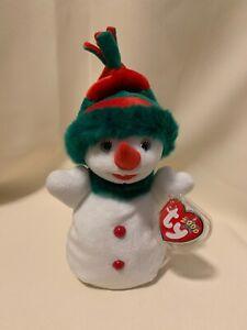 "TY BEANIE BABY /""SNOWGIRL/"" 2000 beanbag plush  w//Tag snowman"