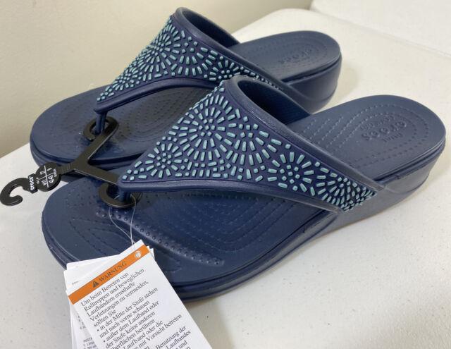 Womens 11 Crocs Monterey Diamante Wedge