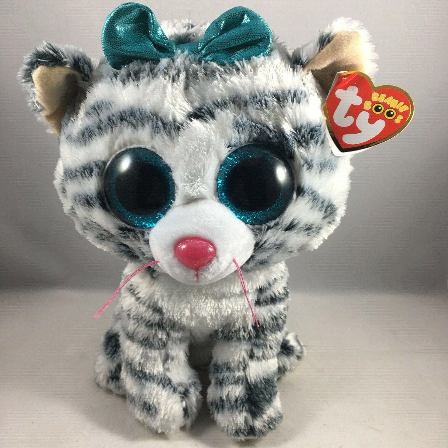 TY Beanie Boos Medium 9 inch - MWMTs Glitter Eyes TASHA the Leopard