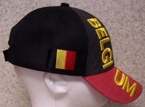 Embroidered Baseball Cap International Belgium NEW 1 hat size fits all