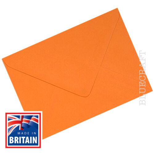 "6 x 4/"" approx 25 x C6 A6 Premium Spanish Orange 100gsm Envelopes 114 x 162mm"