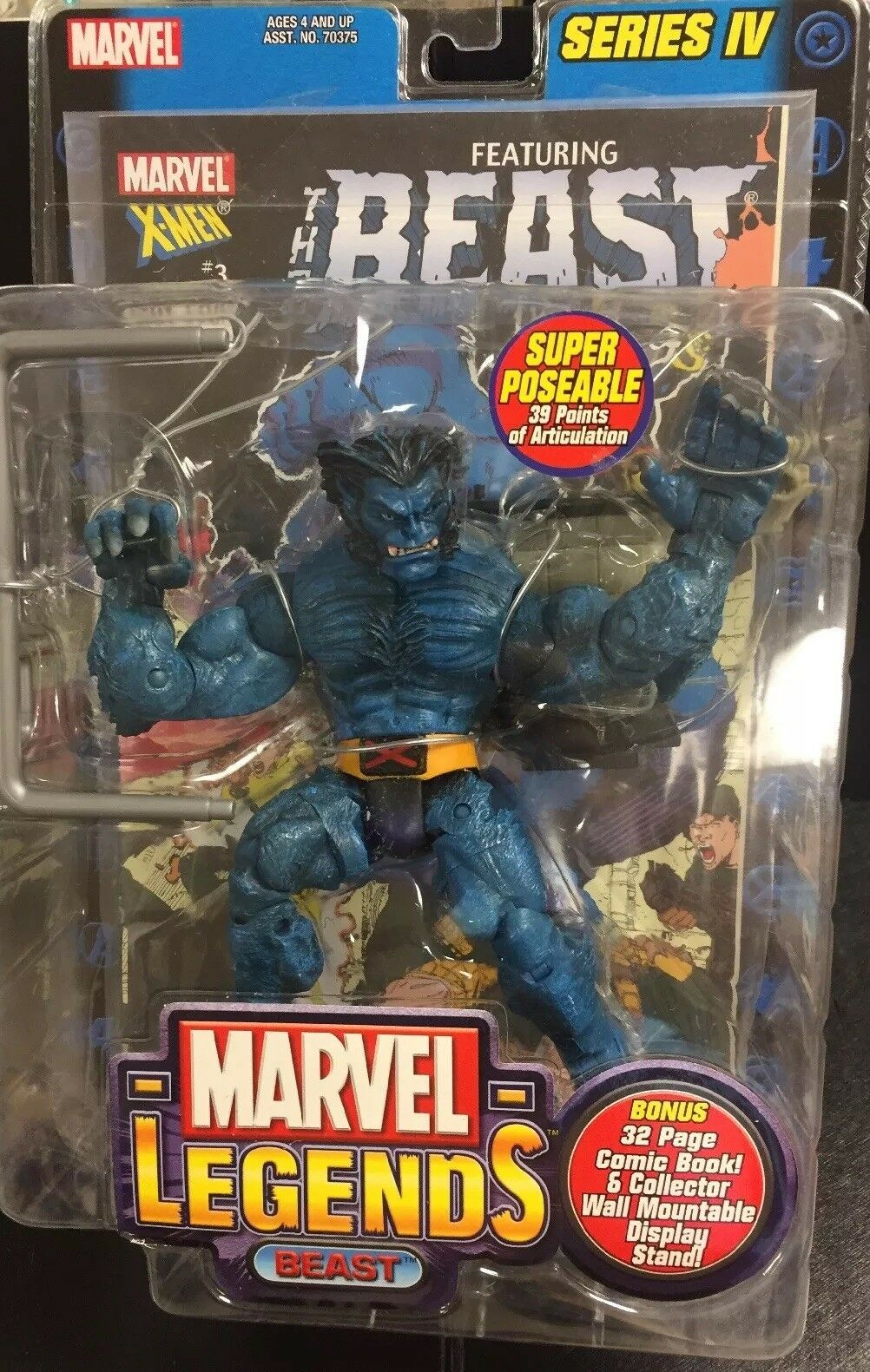 Marvel Legends X Men Series 4 IV Super Poseable Poseable Poseable 6  Inch Beast Action Figure bbc8f5