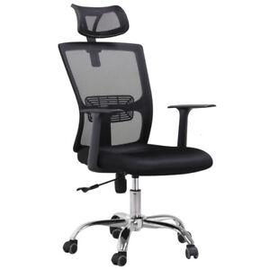 high back mesh office chair adjustable ergonomic swivel computer