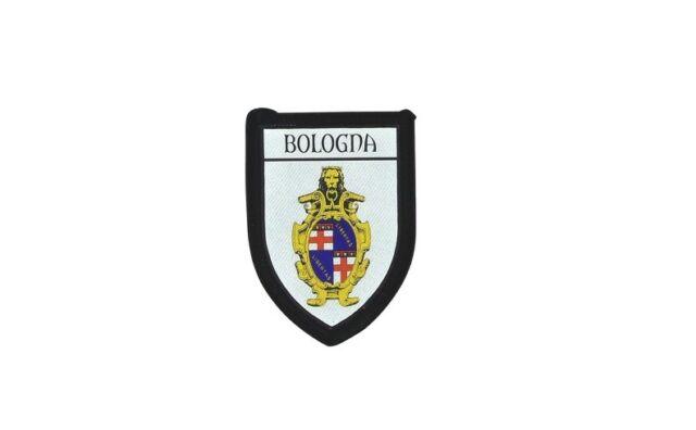 Patch printed embroidery travel souvenir shield city flag bologna italy