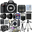 Nikon D3200 Digital SLR Camera Body + 3 Lens Kit 18-55mm VR Lens + 16GB Bundle