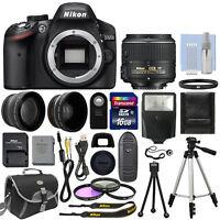 Nikon D3200 Digital SLR Camera Body + 3 Lens Kit 18-55mm VR Lens + 16GB Bundle