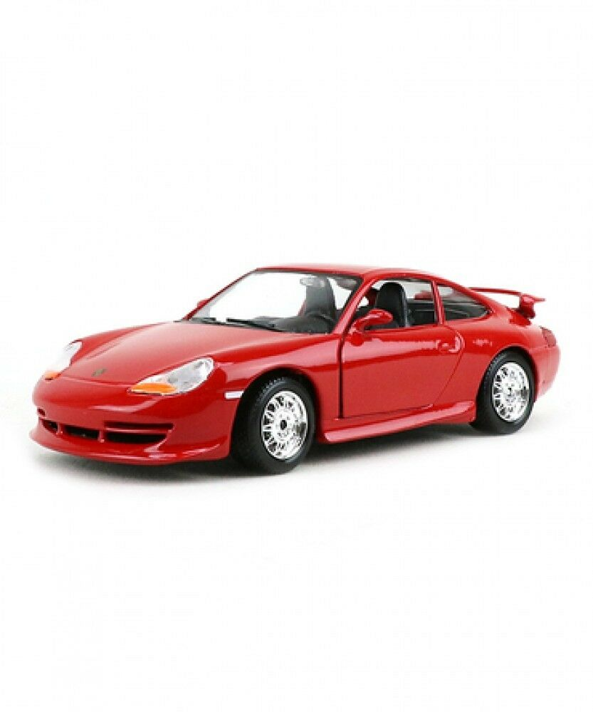 New Burago 1 24 Porsche GT3 Red Diecast Car from Japan
