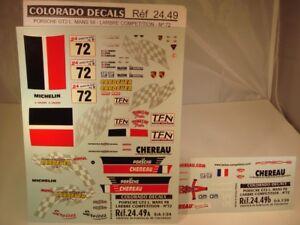DECALS-1-24-PORSCHE-GT2-72-034-CHEREAU-034-LE-MANS-1998-COLORADO-2449