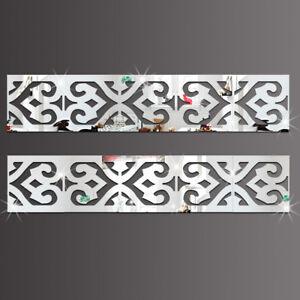 Spiegel-Quadrate-mit-Ausschnitt-10er-Set-Borte-Deko-Kunststoff-Ornament-Dekor