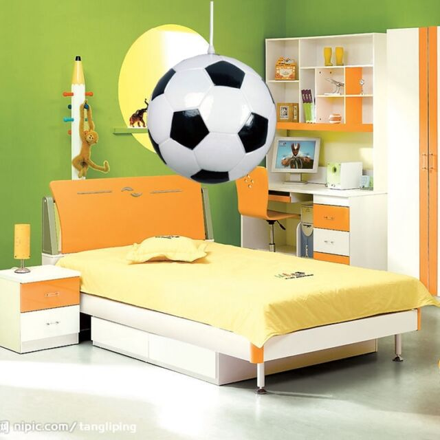 Children's Room Indoor Ceiling Light Fixtures Football Pendant Lamps Chandelier
