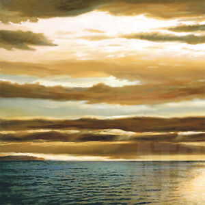 REFLECTIONS-ON-THE-SEA-I-27x27-034-and-II-27x27-034-by-DAN-WERNER-2PC-SET-CANVAS