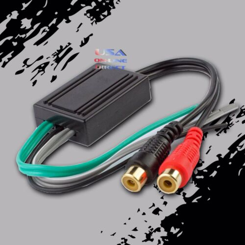 2PCS Speaker to Gold Female RCA High Low Line Output Converter Car//Home Audio US