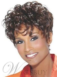 Details About Top Quality Natural African American Hairstyle Short Curly Wig Hair