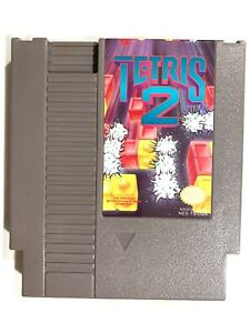 Tetris-2-Authentic-Nintendo-NES-1993-Contacts-Cleaned-Tested-And-Working