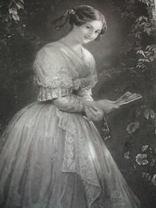 "Gravure 1860 "" La Beauté D'albano "" A.reidel 370x260"