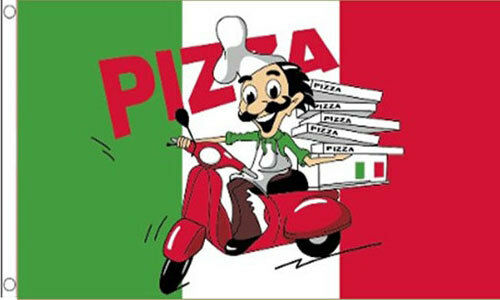 5/' x 3/' Pizza Flag Take Away Shop Italian Italy Fast Food Delivery Van Banner