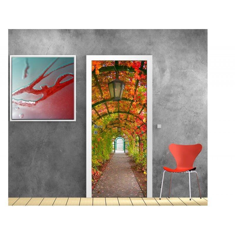 Wallpaper door Garden autumn 802