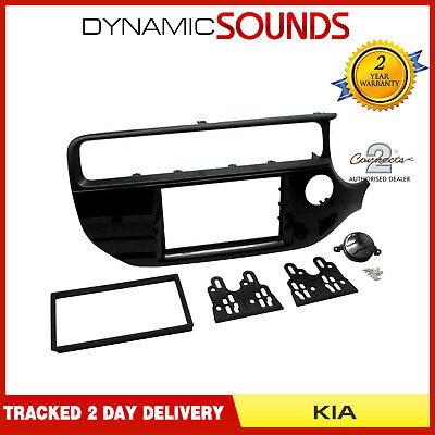 Kia Rio 2015 On Car Stereo Double Din Fascia Facia Adaptor Panel Kit CT23KI56
