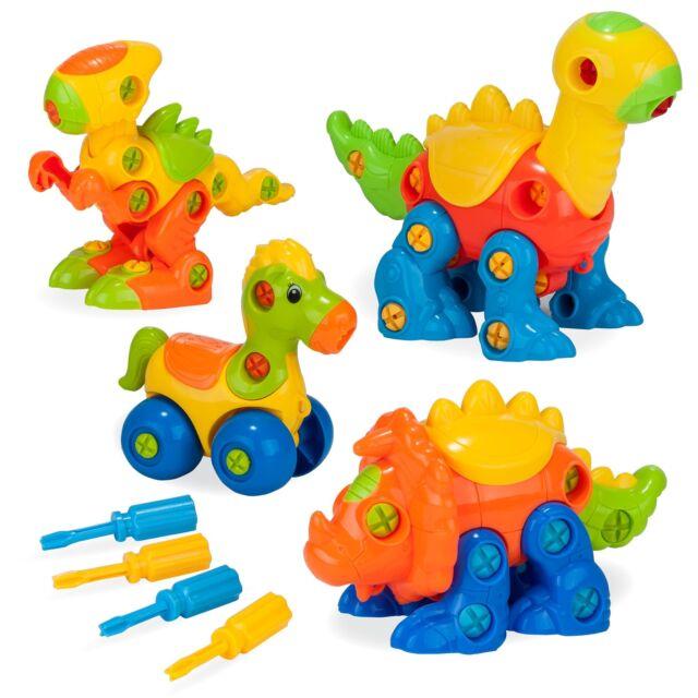 Creative Kids Build Learn Dinosaur Toys - Interlocking Model Stem Play Set  for
