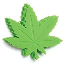Gama-Go Hi Times Pot Leaf Shaped Silicone Drink Coasters - Set of 4