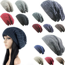 Herz Hiz Women Men Knitted Winter Oversized Slouch Beanie Hat Cap skateboard