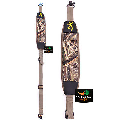 DRAKE WATERFOWL NEOPRENE GUN SLING WITH SWIVEL CLIPS SHADOW GRASS BLADES CAMO