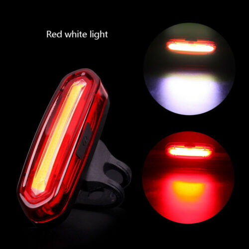 USB Rechargeable Bike Tail Light Bicycle Cycling Warning Rear Lamp Waterproof