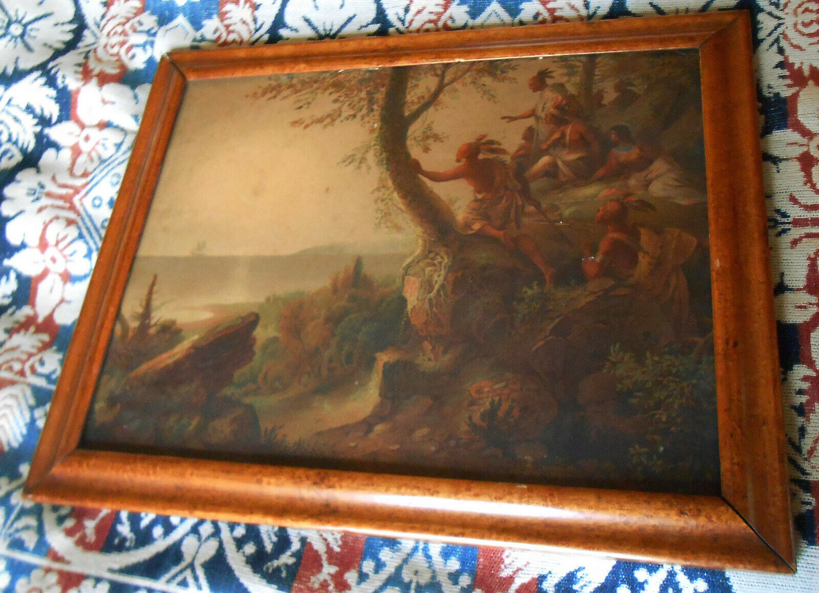 "Rare 1860s FA Chapman Chromolithograph ""Hendrick Hudson in the Bay of New York"" on eBay thumbnail"