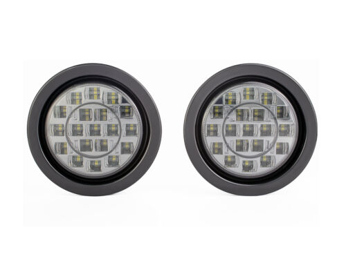 "4/"" Luci LED RETROMARCIA PER AUTO FURGONE PICK UP Jeep Flush Mount Affumicato Lente"