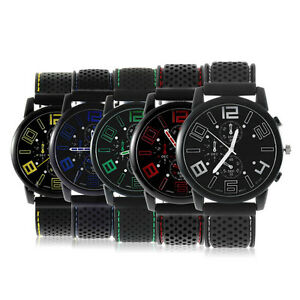 Black-Fashion-Stainless-Steel-Luxury-Sports-Analog-Quartz-Wrist-Watch-Fast-BY