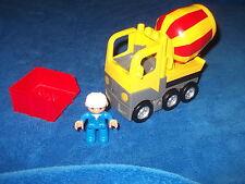 Lego Duplo Betonmischer Baustelle Steinbruch aus 5653 Gelb Rot + Kipper Aufsatz
