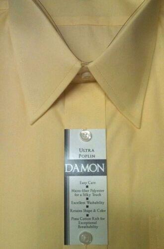 DAMON Enro Mens Dress Shirt ULTRA POPLIN Point Collar B/&T Classic $58 NWT Yellow