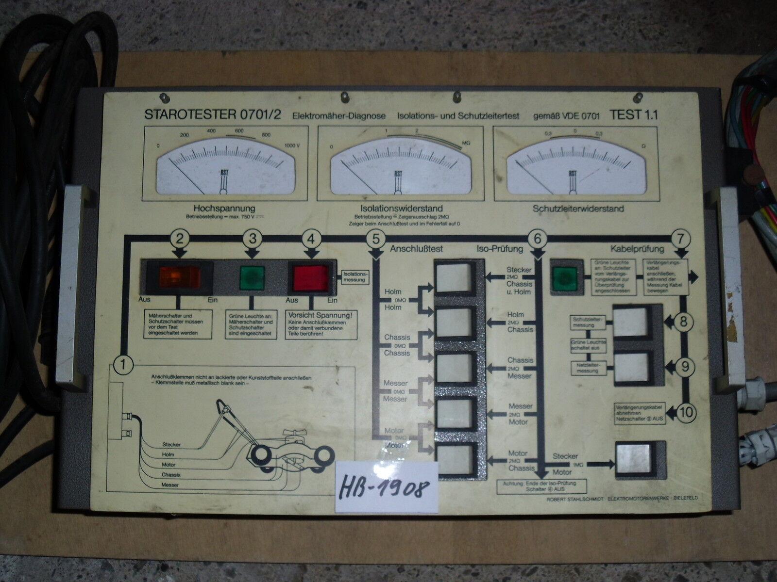 HB-1908 Starotester 0701 2, Elektromäher-Diagnosegerät gebr. Stahlschmidt