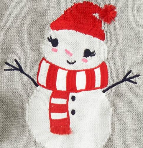 NWT Gymboree Holiday Winter Heather Grey Red Snowman Sweater Dress 3T 4T 5T