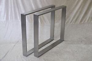 2 er set design tischkufen edelstahl 70x60 profil 80x20 for Fenster 70x60