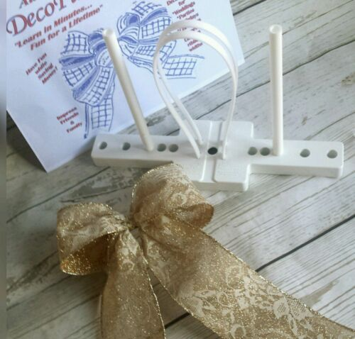 instructions /& 6 x ties Decofun Bow Maker with 3 x 3M assorted start up ribbons