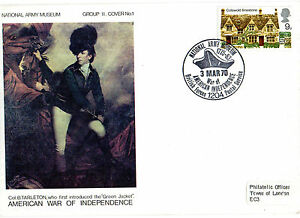 1970 AMERICAN WAR 0F INDEPENDENCE 21 ARMY MUSEUM COMMEMORATIVE COVER SHS - Weston Super Mare, Somerset, United Kingdom - 1970 AMERICAN WAR 0F INDEPENDENCE 21 ARMY MUSEUM COMMEMORATIVE COVER SHS - Weston Super Mare, Somerset, United Kingdom