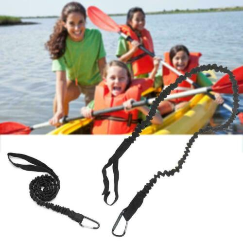 Kayak Canoe Paddle Rod Leash Safety Rope Carabiner Rowing Boats Accessories K1B0