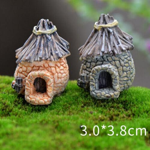 Vintage house Miniature Garden Home Decor Mini Craft Micro Paysage accessorysp