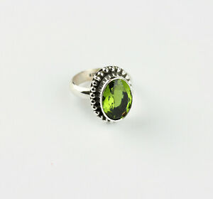Alexandrite Synth. Ring Color Change 925 Silver Alexendrit Jewelry Noble Gr.20/