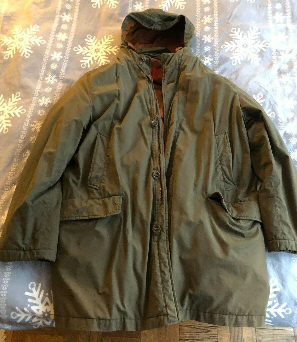 Men's Green Gore-Tex Hooded Winter Coat