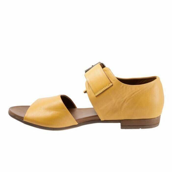 Casual Womens Sandals Buckle Leather Open Toe Flat Heels shoes Slip Resistant SZ