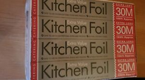 Box of 12 Essential Kitchen Cooking Foil Aluminium 300mm x 30m