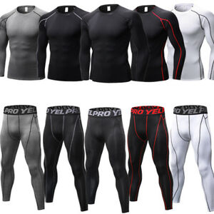 Mens-Compression-Tights-Athletic-Base-Layers-Spandex-Sports-Long-Pants-Quick-dry