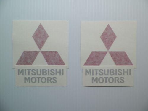 New Mitsubishi Motors Logo EVO Spoiler Decal Pair RalliArt Evolution MR DSM VR-4