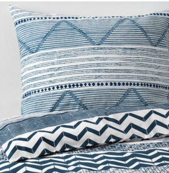 Ikea Provinsro Double Duvet Set, 2 Pillowcases White & bluee, BNWT